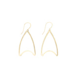 Shape Earrings: Curved Triangle