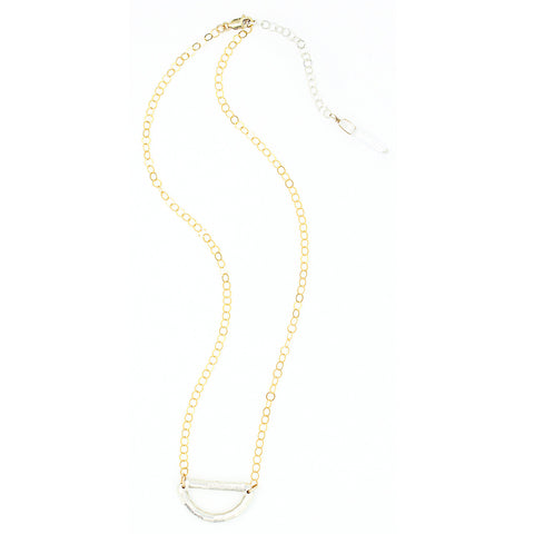 Baguette Fancy Basket Necklace