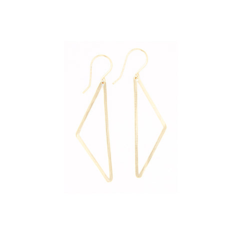 Shape Earring: Half Diamond