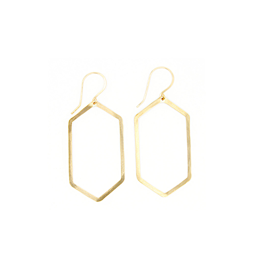 Shape Earring: Extended Hexagon