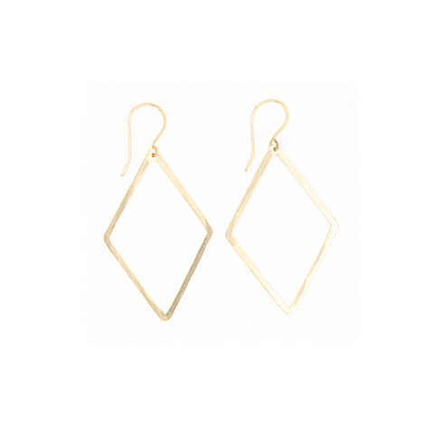 Shape Earrings: Thin Diamond