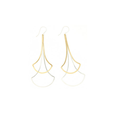 Shape Earrings: Double Ginko