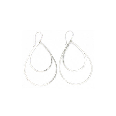 Shape Earrings: Double Tear