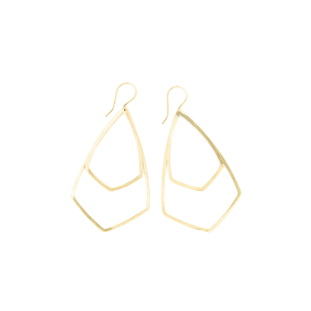 Shape Earrings: Double Shield