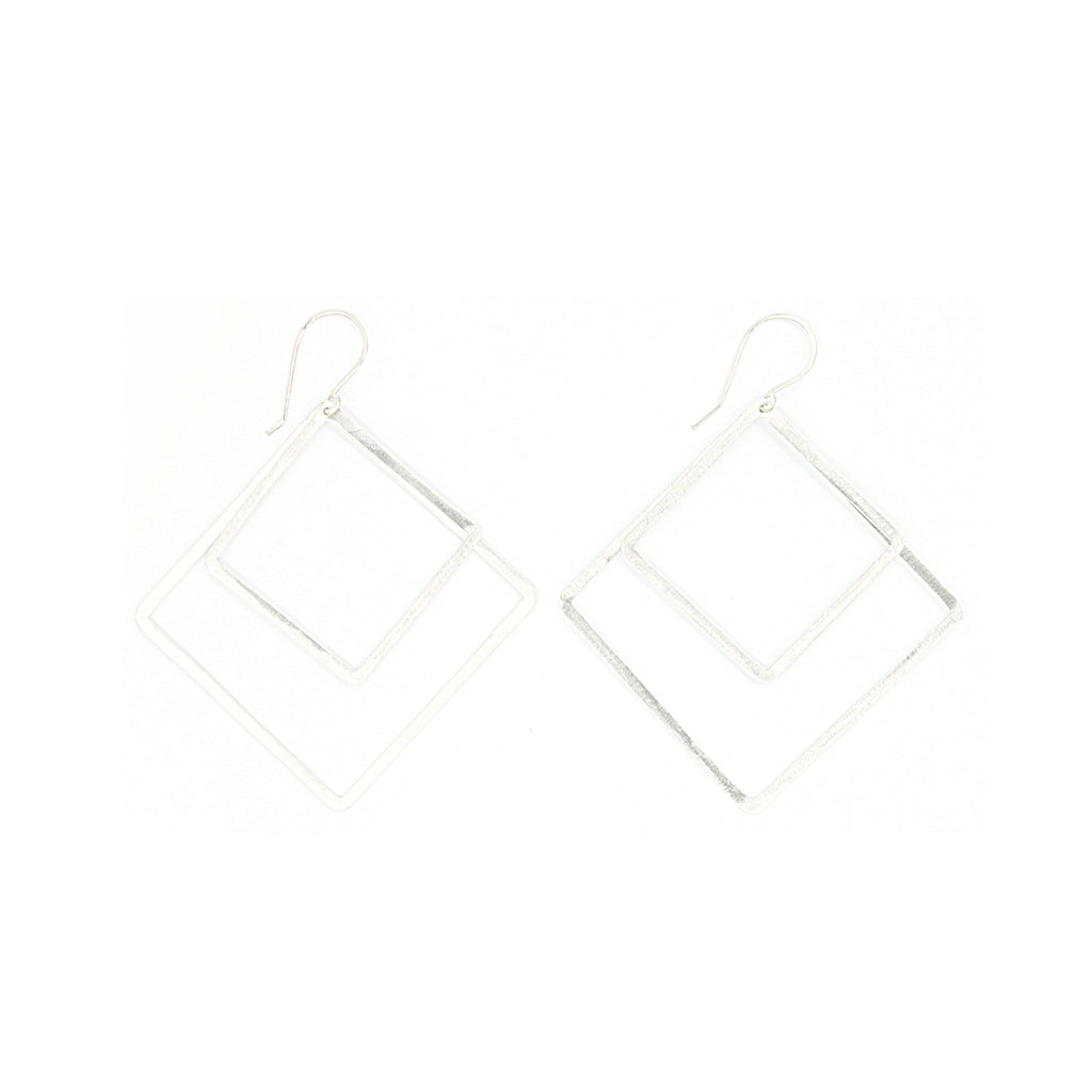 Shape Earrings: Double Diamond