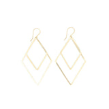 Shape Earrings: Double Thin Diamond