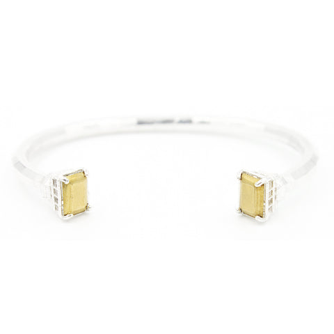 Faceted Baguette Cuff