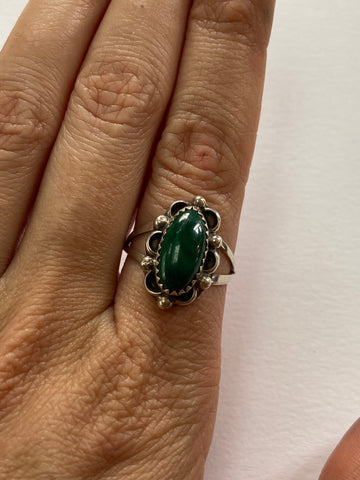 Perfect Malachite Oval Ring