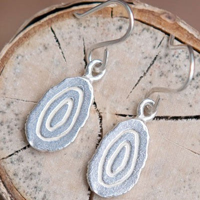 Sticks & Stones Oval Tree Trunk Earring