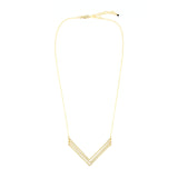 Chevron Necklace, Medium Triple