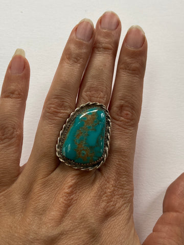 Gorgeous Chunky Turquoise Nugget Ring