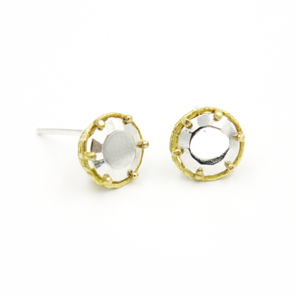 Round Fancy Basket Studs