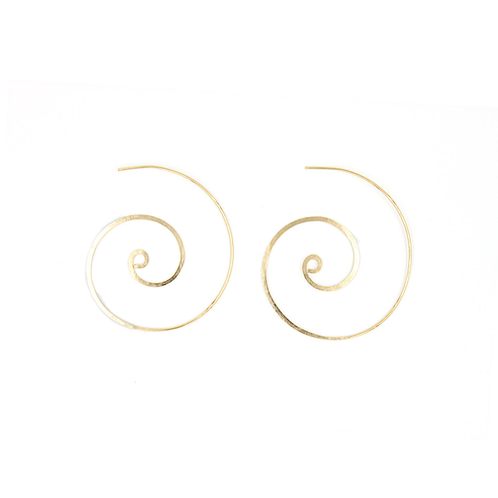 Hammered Signature Swirl Earrings