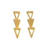 Triple Triangle Studs
