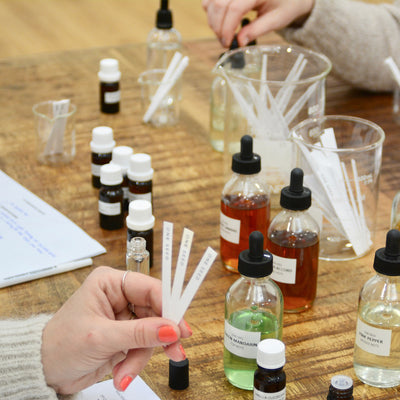 perfume class workshop ingredients maker