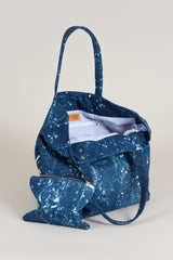 Shopper 013 Galaxy - Denim spikkels gebleekt