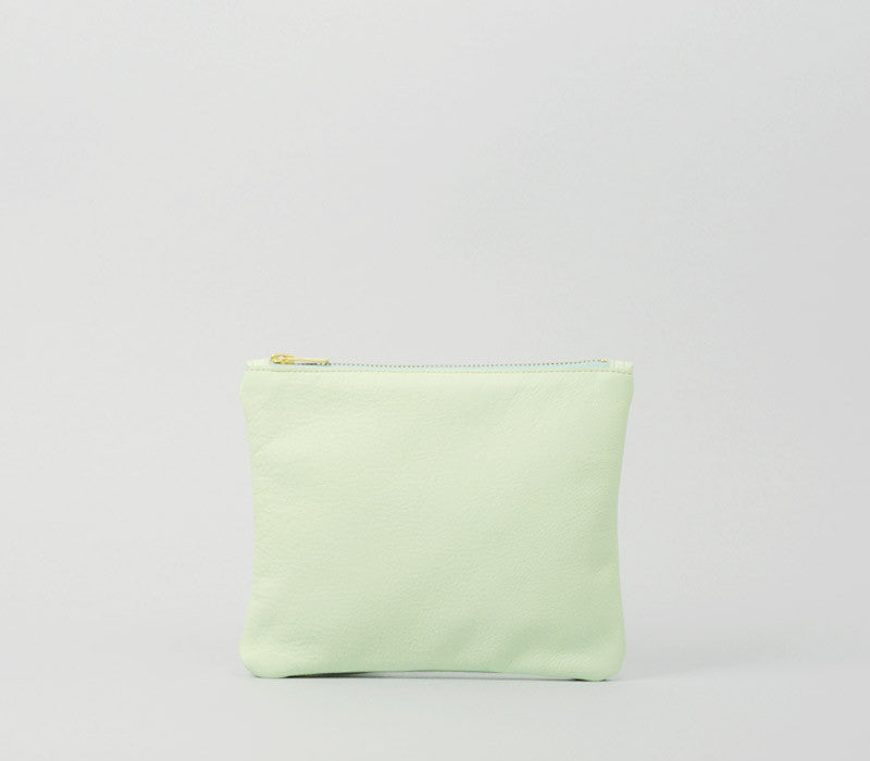 Purse S - Leather - Mint green