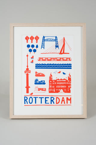 Rotterdam Poster wit
