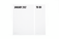 WALL PLANNER - 2017 - Natural White / Black