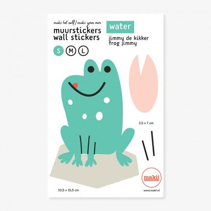 WALL STICKER 'CHRISTIAN THE FROG' (14 X 22 CM)