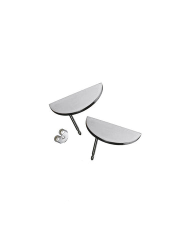 EARRING 'CONVEX' (PAIR) - STERLING SILVER