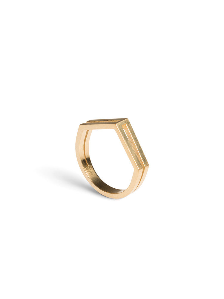 RING GARNER DROP - Gold Plated