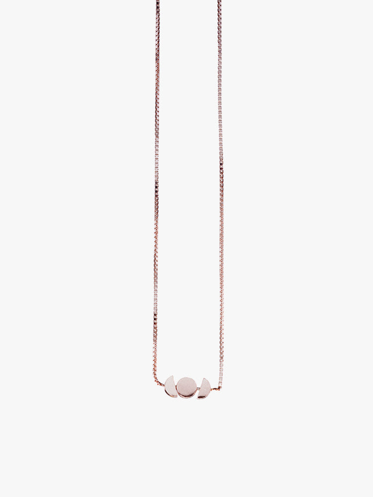 Necklace 'Orb' Horizon Rose Plated