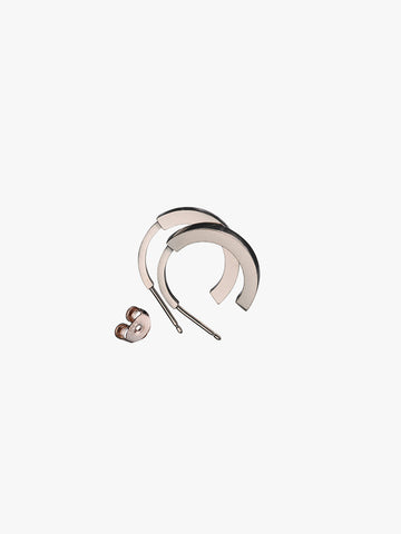 Earring 'Phase' L Pair Rose Plated