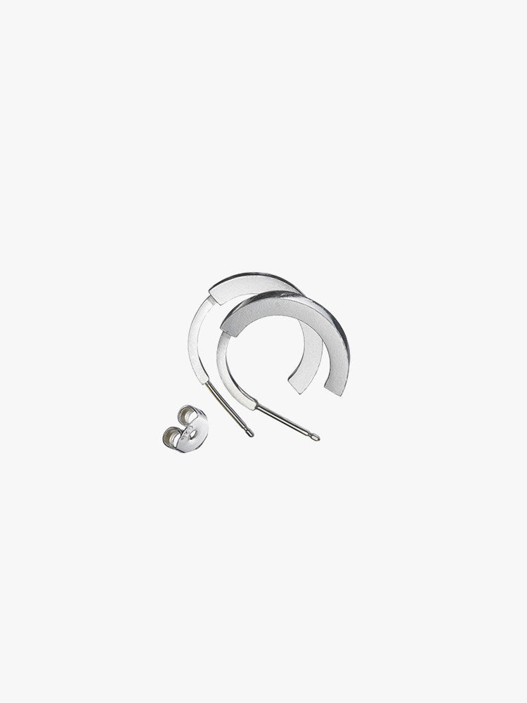 Earring 'Phase' L Pair Sterling Silver