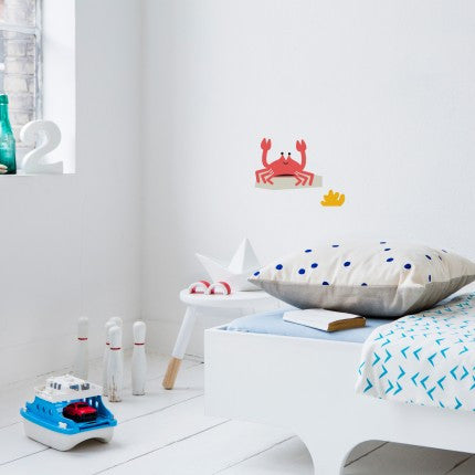 WALL STICKER 'POLLY THE CRAB' (14 X 22 CM)
