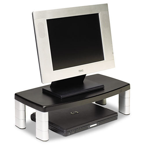 3M Extra-Wide Adjustable Monitor Stand, Black 3M 20.0-inches x 12.0-inches x 5.875-inches