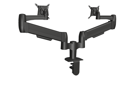 SpaceArm SA02QC-CL-BLK Dual Monitor Arm with Clamp Mount