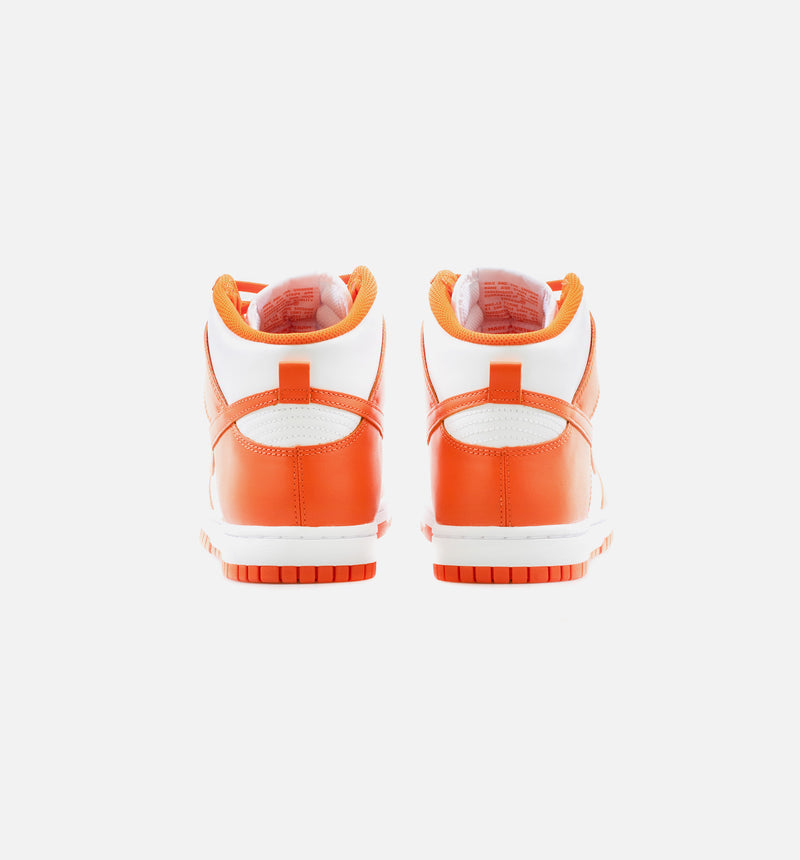 DUNK HIGH SYRACUSE MENS LIFESTYLE SHOE - WHITE/ORANGE LIMIT ONE PER CUSTOMER