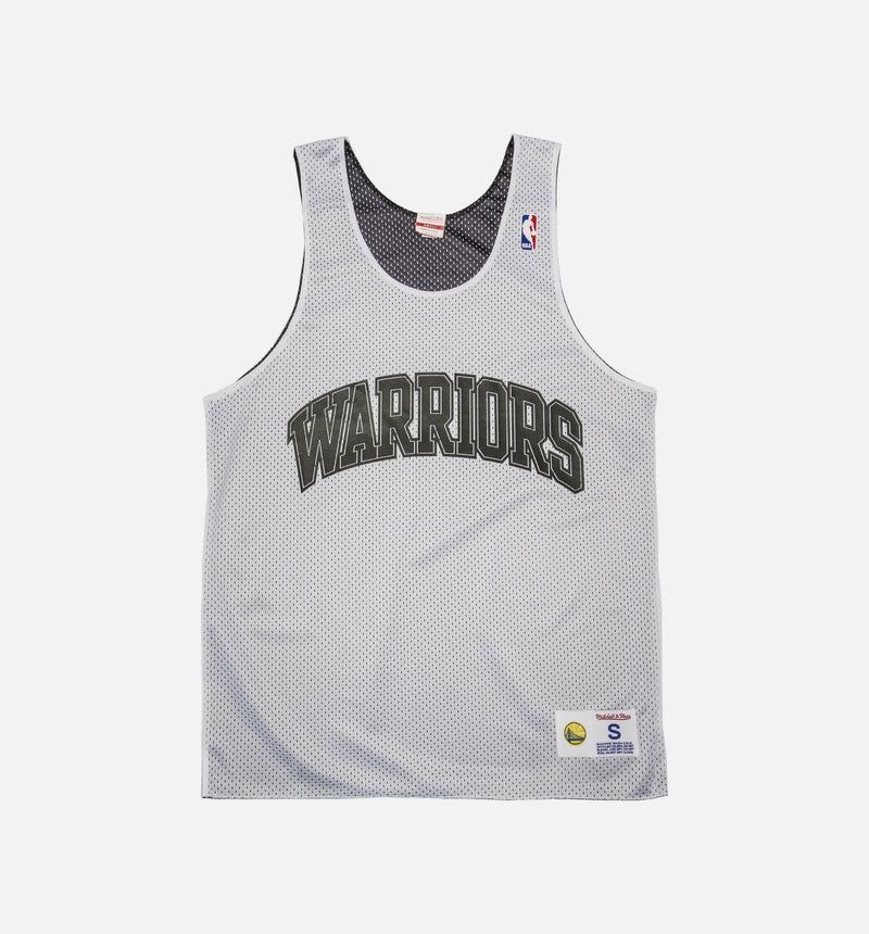 MITCHELL & NESS GOLDEN STATE WARRIORS NBA DROP STEP REVERSIBLE JERSEY (MENS) - WHITE/BLACK