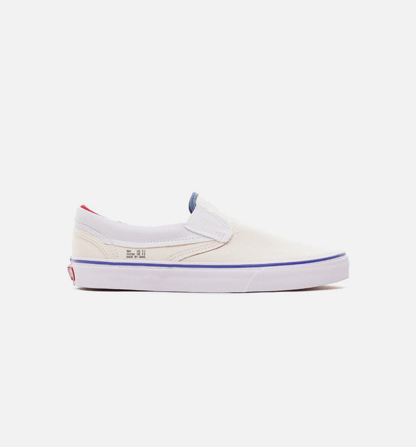 OUTSIDE IN CLASSIC MENS SLIP ON - NATURAL/NAVY/RED