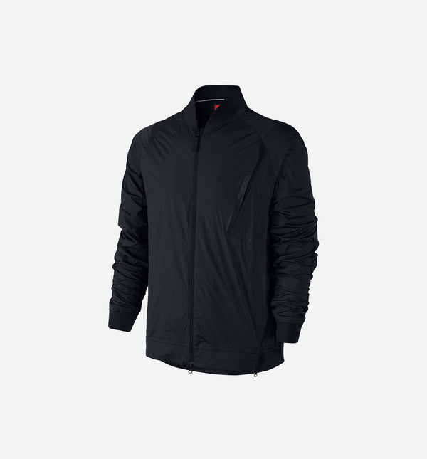 NIKE SPORTSWEAR TECH HYPERMESH VARSITY MEN'S JACKET - BLACK