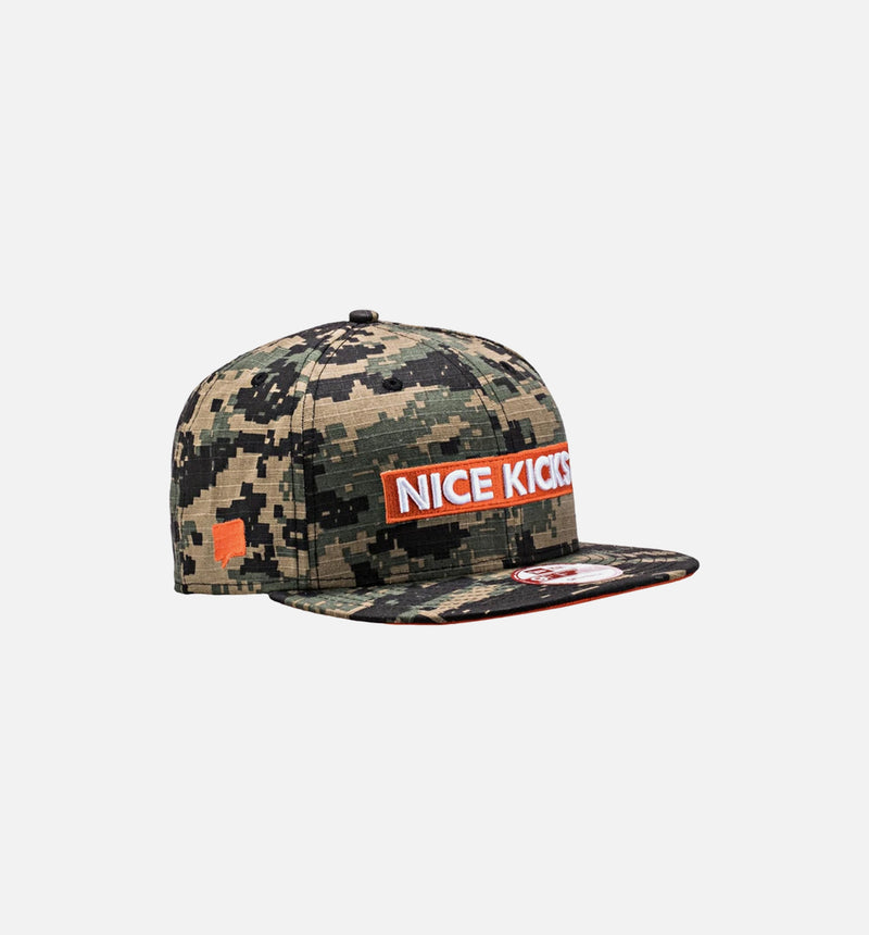 Nice Kicks x New Era Snapback Hat - DigiCamo/Orange