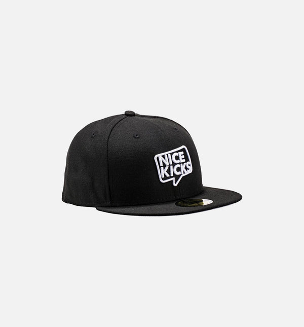 Nice Kicks x New Era Fitted Hat - Black/White