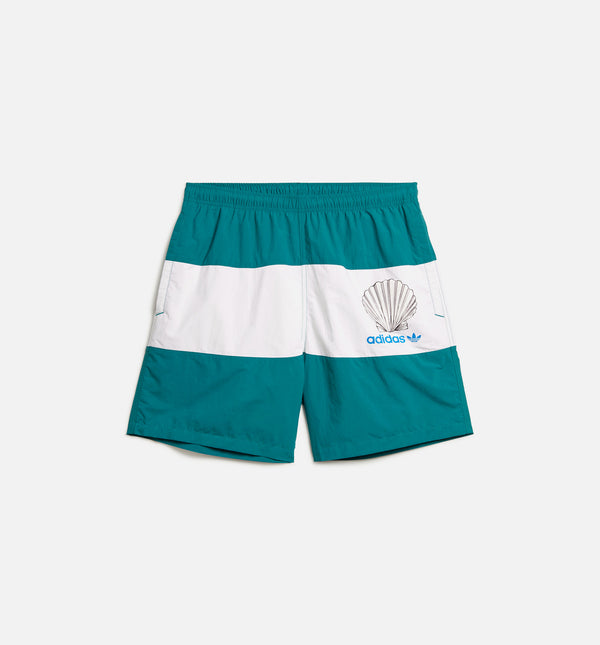 NOAH MENS SHORTS - GREEN/WHITE/BLUE
