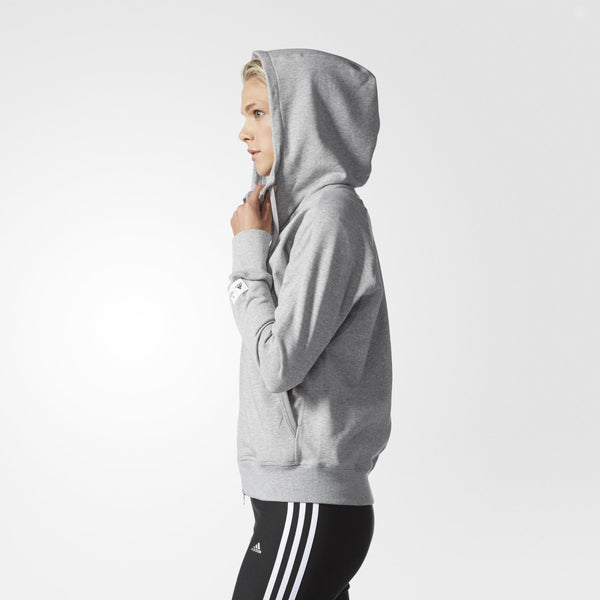 NIKE SPORTSWEAR TECH FLEECE HOODIE WOMEN'S - GREY