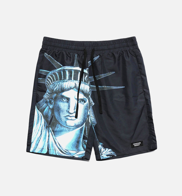 NYC MENS SHORTS - BLACK/TEAL
