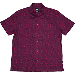 Stüssy Circle Paisley Shirt (Mens) - Burgundy