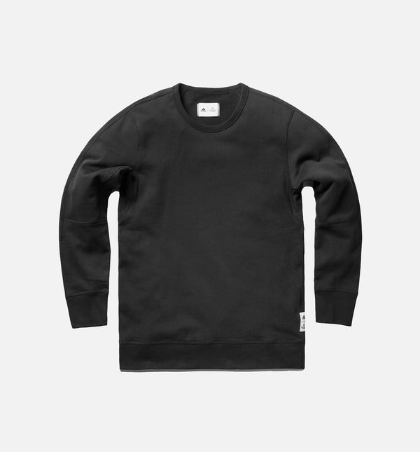 REIGNING CHAMP X ADIDAS FRENCH TERRY CREW LONG SLEEVE MEN'S  - BLACK