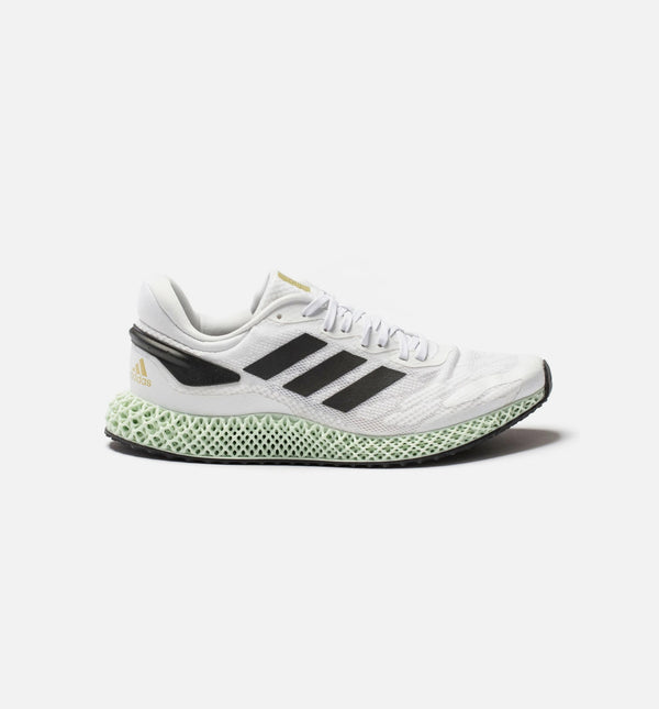 4D RUN 1.0 MENS RUNNING SHOE - WHITE/BLACK/GOLD METALLIC/MINT