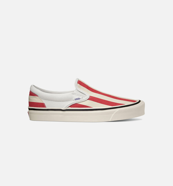 ANAHEIM FACTORY CLASSIC SLIP ON 98 DX MENS SHOES - OG WHITE/OG RED/BIG STRIPES