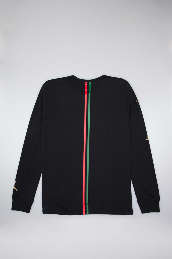 AIR JORDAN BHM BLACK HISTORY MONTH MENS LONG SLEEVE T-SHIRT - BLACK
