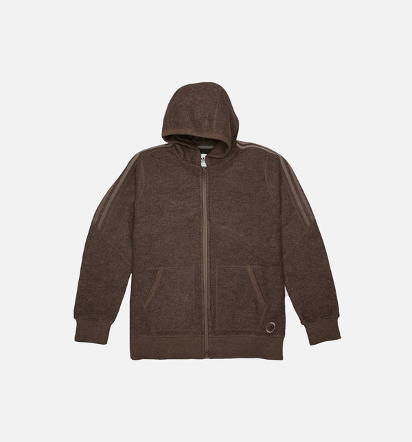 ADIDAS X WINGS + HORNS MIC DOUBLE WAFFLE MENS HOODIE - BROWN