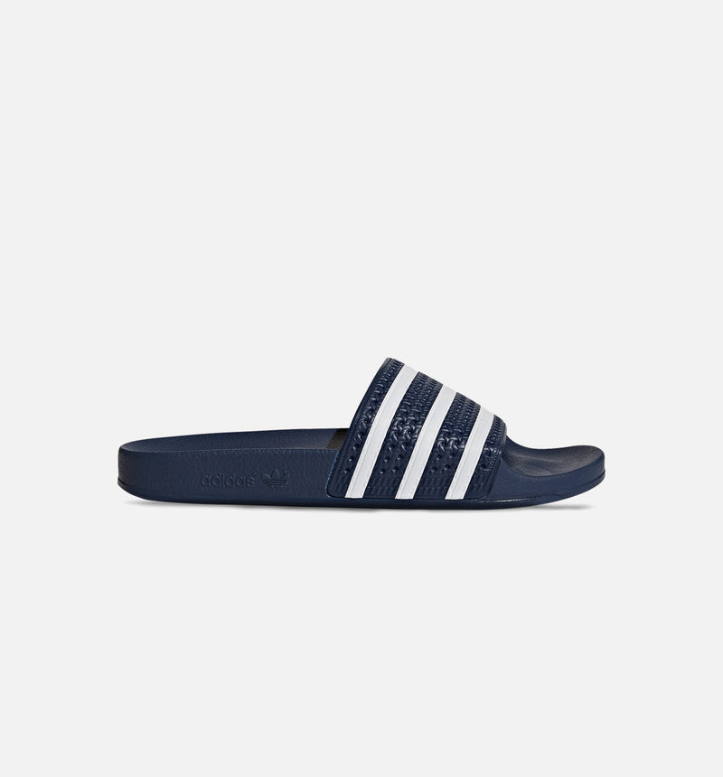 ADILETTE SLIDE SANDALS MENS - BLUE/WHITE