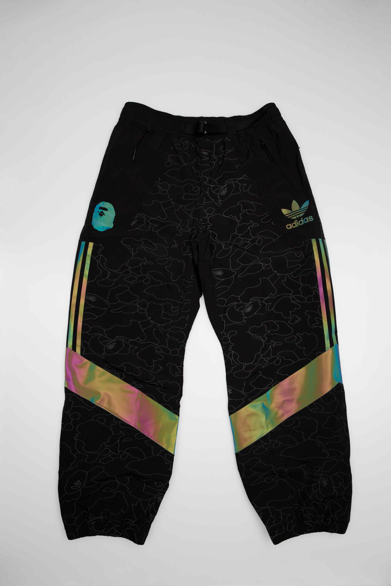 BAPE X ADIDAS SNOWBOARDING COLLECTION MENS SLOPETROTTER PANTS - BLACK/BLACK