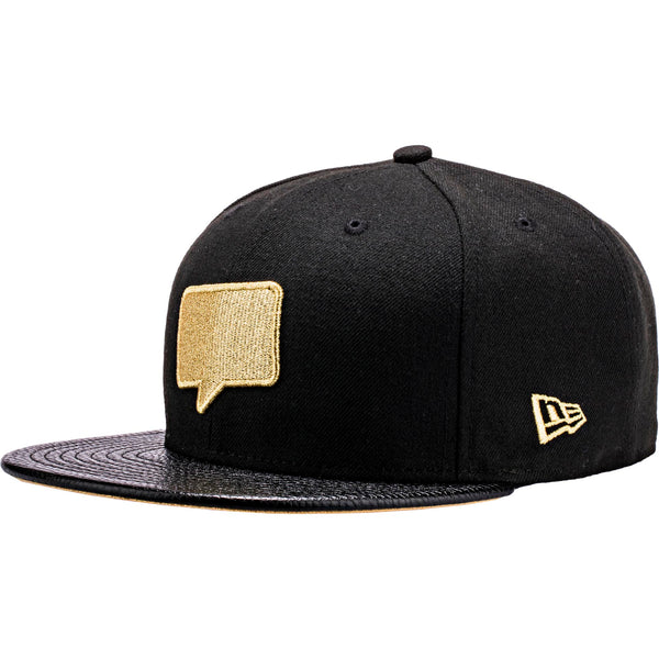 Nice Kicks x New Era Snapback Hat - Black/Metallic Gold